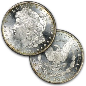 1881-S Morgan Dollar (Brilliant Uncirculated) 20 Count Roll